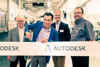 Bei der Erföffnung der Advanced Manufacutring Facility: Andrew Anagnost, CEO bei Autodesk.